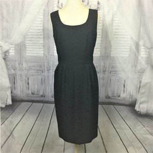 Vintage Little Black Dress Sleeveless Sheath 8
